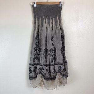 Anthropologie LAPIS Boho Convertible Dress/Skirt